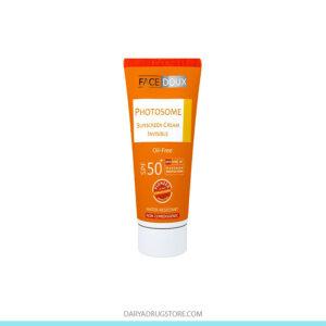 کرم ضد آفتاب بدون رنگ SPF50 فیس دوکس