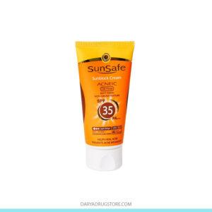 کرم ضد آفتاب بژ متوسط SPF35 سان سیف